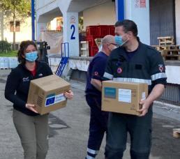 Livraison de masques chirurgicaux et gants de protection en Serbie